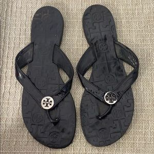 Tory Burch leather flip flops